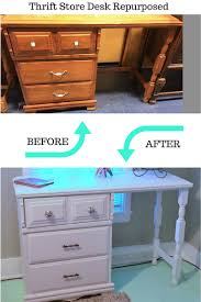 upcycle an old desk into a vanity vanities desks and storage
