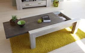 concrete and wood coffee table malmo modern coffee table with storage in portofino grey oak and
