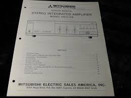 original mitsubishi da u106 stereo integrated amplifier amp u106