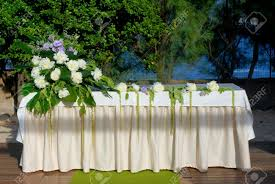 wedding altar flowers a wedding altar with flowers and plants stock photo picture and