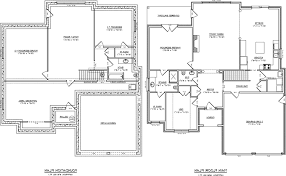 house plan with basement alternate basement floor plan 1st level 3 bedroom house plan with