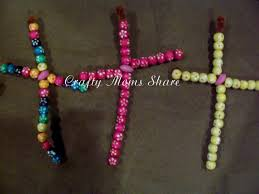 crafty moms share beaded crosses