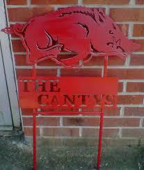 arkansas razorbacks yard sign
