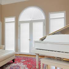 original arch light filtering pleated fabric shade white 72