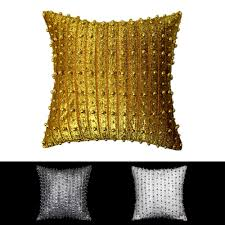 showroom display hand make silver pearl pillow cushion cover