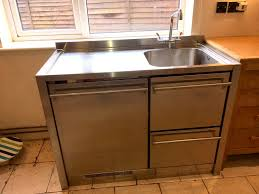 stand alone kitchen sink unit freestanding marks and spencers kitchen with smeg sink unit used