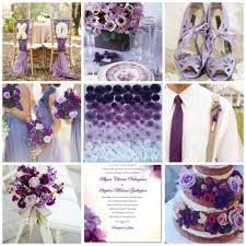 color palette idea shades of purple burgh brides