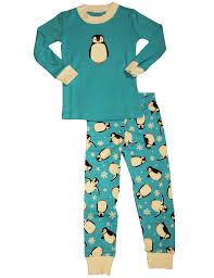 s prints boys sleeve penguin pajamas blue