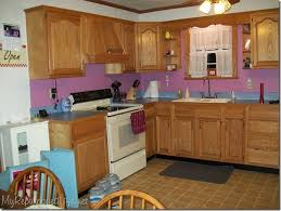 How To Paint Oak Kitchen Cabinets White by Painting Oak Kitchen Cabinets White Before And After Kitchen