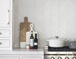 white backsplash for kitchen white herringbone kitchen backsplash tiles with gray grout tile