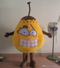 100 real photos of bad pear costume germs bacteria mascot costume