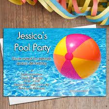 Invitation Card For Pool Party Pool Birthday Party Invitation U2013 Frenchkitten Net