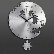 wall clock modern 16 inch circilar creative puzzles wall clock art wall clock modern