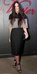 nude pics of demi moore demi moore is elegant in black and silver dress in la daily mail