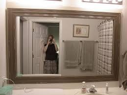 how to frame a bathroom mirror reclaimed wood bathroom mirror home design gallery www
