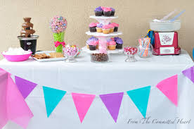 simple candy buffet from the committed heart