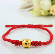gold string bracelet images New arrival red colour string 999 3d 24k yellow gold 12 chinese jpg