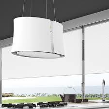 hotte cuisine suspendue hotte îlot suspendue zephiro e ion 66cm 450 m3 h blanc falmec