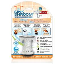 bathroom sink hair catcher amazon com sinkshroom chrome edition revolutionary bathroom sink