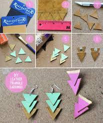 earrings diy diy leather triangle earrings hello glow