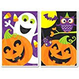 amazon com halloween treat bags with zip seal 40 pc choose from 3