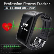 heart rate calorie bracelet images K1 smart bracelet wearable fitness tracker watch think outside in jpg