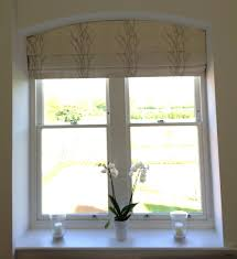 Diy L Shade Blinds Shades For Arched Windows Romans In Lowered Positionl