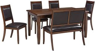 meredy brown 6 piece dining room set from ashley coleman furniture