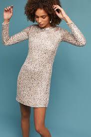 shift dress sequined sleeved shift dress anthropologie