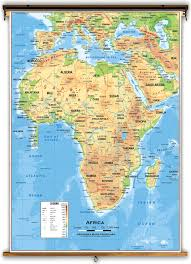 Map Of Africa Political by Africa Physical Classroom Map From Academia Maps