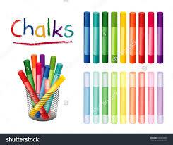 School Desk Organizers by Chalk Crayons Desk Organizer 18 Rainbow Stock Illustration