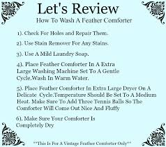 Down Comforter Washing Machine Washing A Vintage Feather Comforter White Lace Cottage