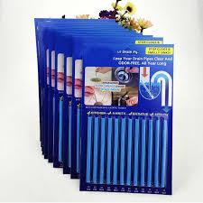 Kitchen Sink Odor Removal by 12 Pack Sticks Drain Cleaner Clog U0026amp Odor Remover Kitchen Bath