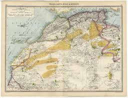 North Africa Map by 1905 Map North Africa Morocco Algeria Rio De Oro Mauretania