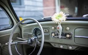 Vw Beetle Classic Interior Simplywallpapers Com Volkswagen Beetle Cars Flowers Interior