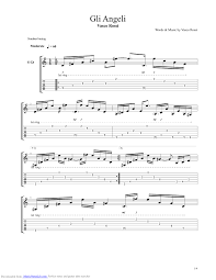 un gran bel vasco gli angeli guitar pro tab by vasco musicnoteslib