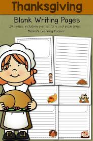 blank thanksgiving writing pages mamas learning corner