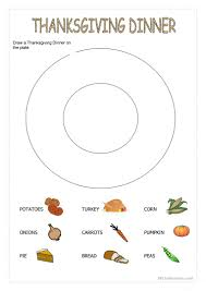 thanksgiving dinner worksheet free esl printable worksheets made