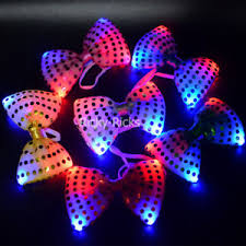 light up bow tie light up bow ties led flashing blinking sequin hair bows wedding