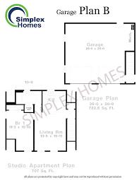 simplex homes plan b modular garage plans
