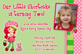 custom birthday invitations strawberry shortcake custard custom photo birthday invitation