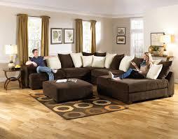 U Shape Sofa Set Designs Living Room Handsome Living Room Decoration Using U Shape Dark