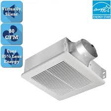 sidewall bathroom exhaust fans delta breez slim series 80 cfm ceiling or wall bathroom exhaust fan