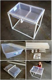diy sand and water table pvc 60 diy sandbox ideas and projects for kids diy crafts