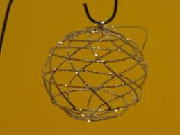 a shoppe ornaments gold wire ornament