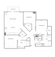 Central Park Floor Plan by Rent Cafe Park Central North Hills