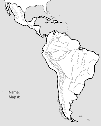 Latin America Map by South America Map Test Free Blank Map Of North And South America