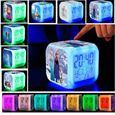 clock led colorful flash luminous touch lights digital clock