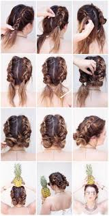 Easy Messy Hairstyles For Short Hair by Best 25 Pigtail Buns Ideas On Pinterest Hair Styles For Short