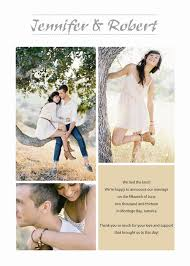 wedding announcement cards and happiness three picture photo wedding announcements ewa007